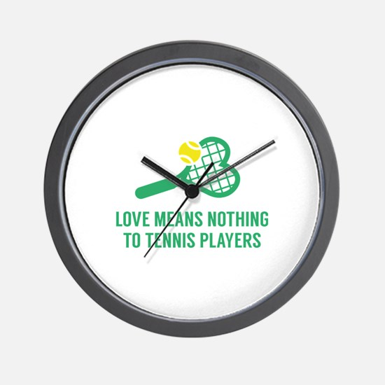Love Means Nothing Wall Clock