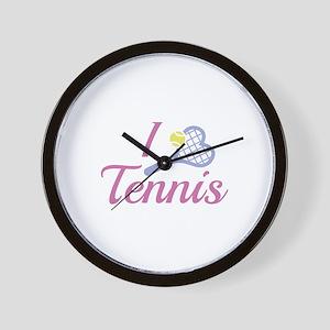 I Love Tennis Wall Clock