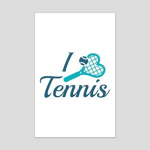 I Love Tennis Mini Poster Print
