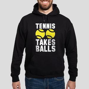 Tennis Takes Balls Hoodie (dark)