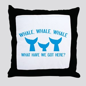 Whale Whale Whale Throw Pillow