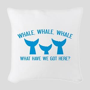 Whale Whale Whale Woven Throw Pillow