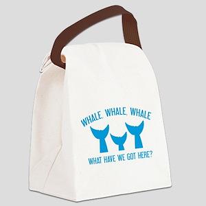 Whale Whale Whale Canvas Lunch Bag