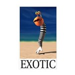 Exotic Rectangle Sticker