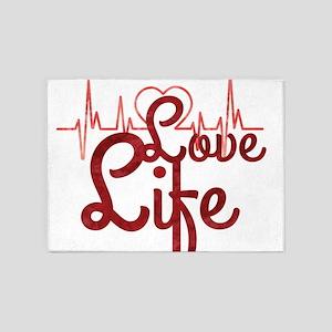 Love Life 5'x7'Area Rug