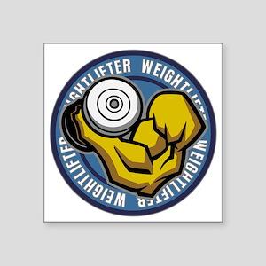 """Weightlifter Flex Logo Square Sticker 3"""" x 3"""""""