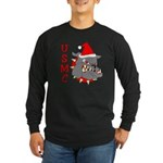 USMC Santa Devil Dog Long Sleeve Dark T-Shirt