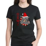 USMC Santa Devil Dog Women's Dark T-Shirt