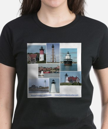Massachusetts Lighthouses Ash Grey T-Shirt