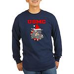 Devil Dog Christmas Long Sleeve Dark T-Shirt