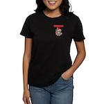 Devil Dog Christmas Women's Dark T-Shirt