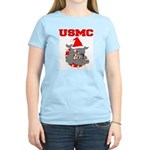 Devil Dog Christmas Women's Light T-Shirt