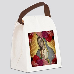 Virgin of Guadalupe with Roses Canvas Lunch Bag