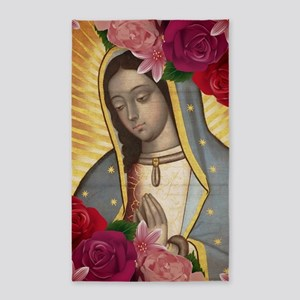 Virgin of Guadalupe with Roses Area Rug