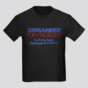 Zoolander for President Kids Dark T-Shirt