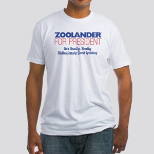 Zoolander for President Fitted T-Shirt