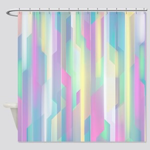 Abstract Colorful Pattern Shower Curtain