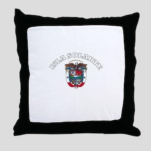 Isla Solarte, Panama Throw Pillow