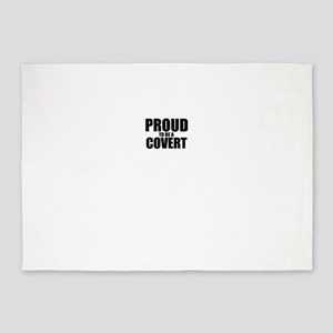 Proud to be COVERT 5'x7'Area Rug