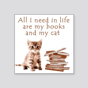 Cats and books Sticker