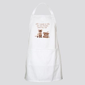 Cats and books Apron
