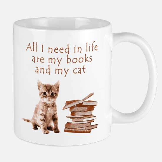 Cats and books Mugs