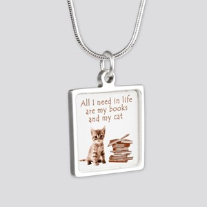 Cats and books Necklaces