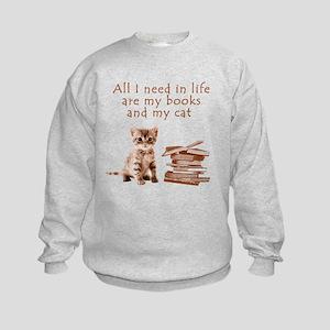 Cats and books Sweatshirt