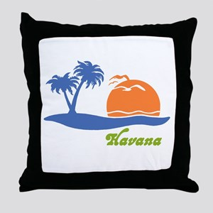 Havana Cuba Throw Pillow