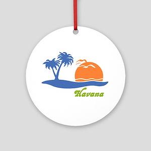 Havana Cuba Ornament (Round)