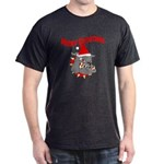 Merry Christmas Devil Dog Dark T-Shirt