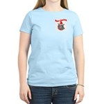 Merry Christmas Devil Dog Women's Light T-Shirt