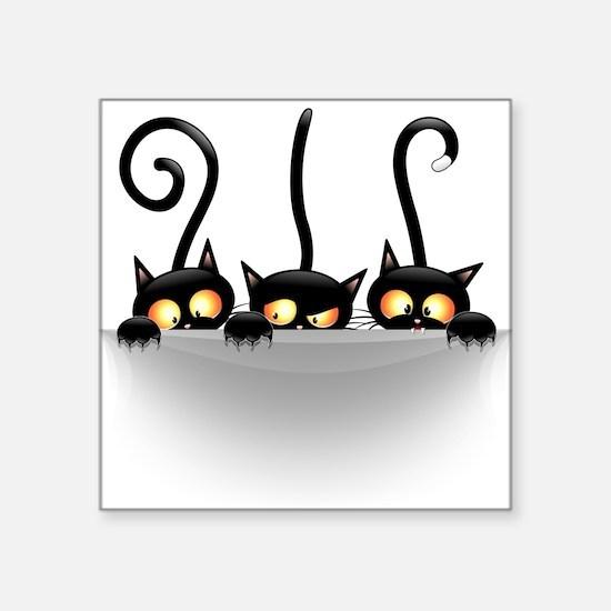 Three Naughty Playful Kitties Sticker