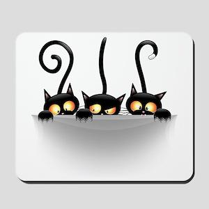Three Naughty Playful Kitties Mousepad