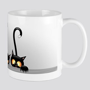 Three Naughty Playful Kitties Mugs