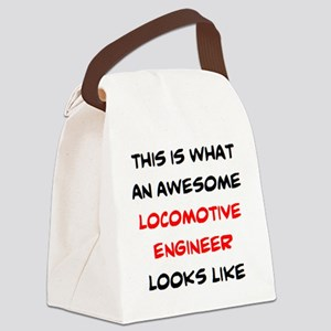 awesome locomotive engineer Canvas Lunch Bag