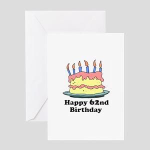 Happy 62nd birthday greeting cards cafepress happy 62nd birthday greeting card m4hsunfo