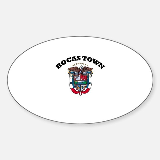 Bocas Town, Panama Oval Decal