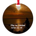 Free Will Round Ornament
