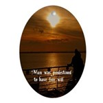 Free Will Oval Ornament