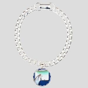 White Horse Blue Window Bracelet