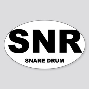 Snare Drum Shirts and Gifts Oval Sticker