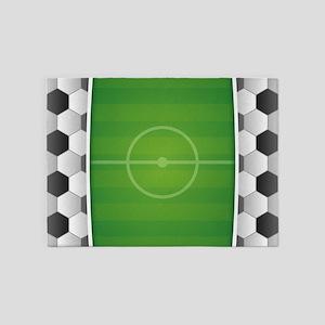 Soccer Football Field 5'x7'Area Rug