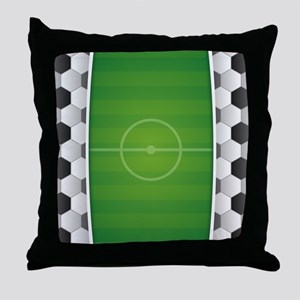 Soccer Football Field Throw Pillow