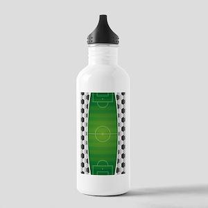 Soccer Football Field Stainless Water Bottle 1.0L