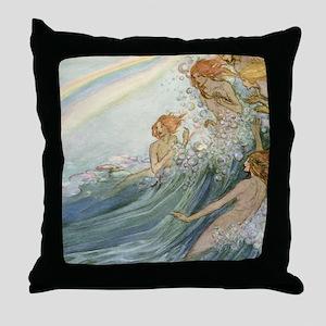 Mermaids - Sea Fairies Throw Pillow