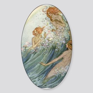 Mermaids - Sea Fairies Sticker (Oval)