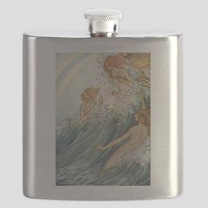 Mermaids - Sea Fairies Flask