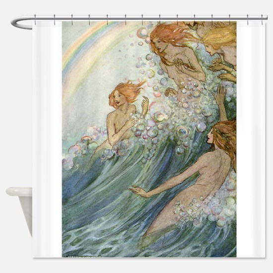 Mermaids - Sea Fairies Shower Curtain