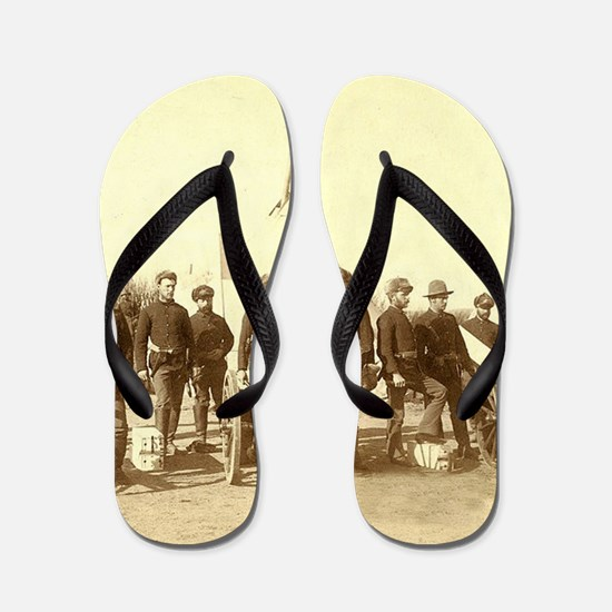 Civil War Soldiers Flip Flops